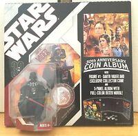 Star Wars 30th Anniversary - DARTH VADER Figure & COIN ALBUM - NEW, SEALED!