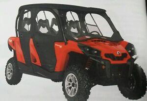 can am commander max 2014 & up black soft doors & rear