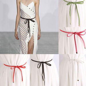 Women's Lady Mini Rope Weave Belt Style Body Belt Casual Slim Fit Skinny Set