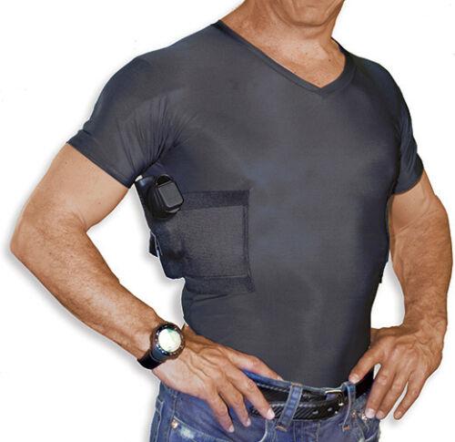 UnderTech Undercover Men/'s Concealed Carry V-Neck Tee 4002