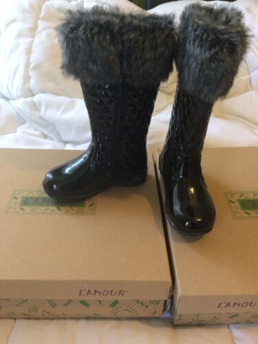 L/'amour /& Angel Quilted Boots Sz 8 Toddler NEW