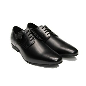 Men-039-s-Cap-Toe-Perforated-Leather-Shoes-Men-039-s-Derby-Lace-Up-Shoes-AU-UK-Size