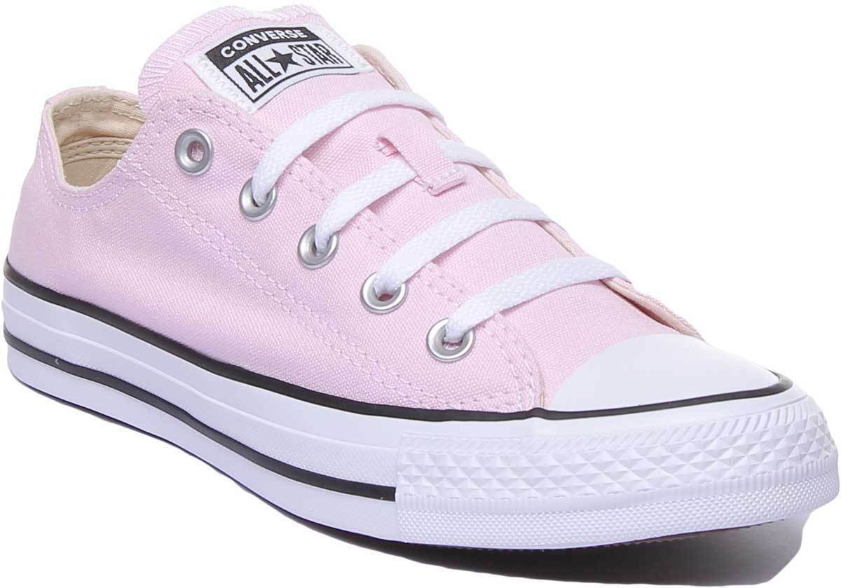 Converse Chuck Taylor All Star Ox Low Women Canvas Pink Trainers UK Size 3 - 8