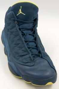 189931f66ee Nike Air Jordan Retro 13 XIII Squadron Blue Electric Yellow Men's ...