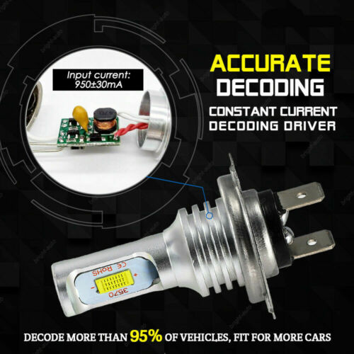 Combo H7 H11//H8 LED Headlight Bulbs Kit 220W 22000LM Fog Light Hi-Lo Beam 6000K