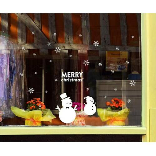 Merry Christmas Wall Window Sticker Santa Ornament Home Party Xmas Decal Decor