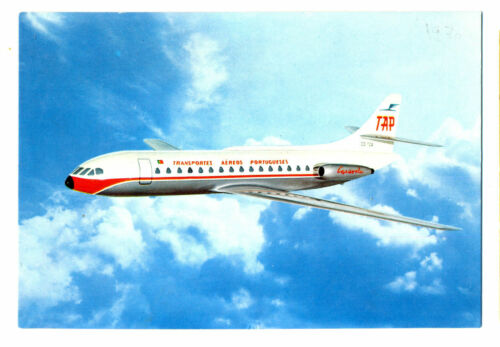 1970 TAP Portugal Airways Issued Caravelle Postcard