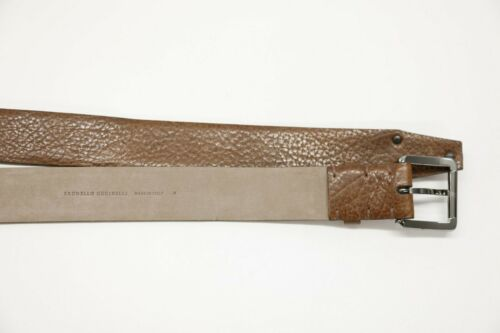 NWT$1095 Brunello Cucinelli Women Pebbled Leather Belt W//Sparkly Studs Sz M A191