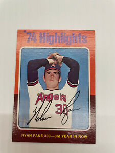 1975 Topps Nolan Ryan Fans 300 #5 Card out of untouched set box well centered