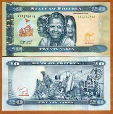 Eritrea, 20 Nakfa, 2012 (2014),  P-13, UNC, Redesigned > Children