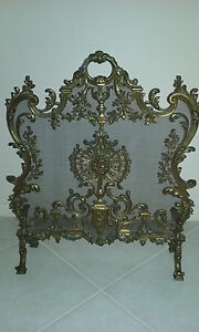 Details About Antique Louis Xiv French Rococo Bronze Fireplace Screen Exquisite 1800 S Rare