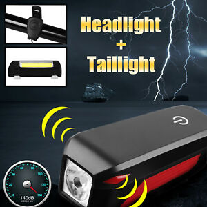 USB-Rechargeable-LED-Bicycle-Headlight-With-Born-Bike-Strobe-Warning-Taillight