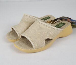 e83890d19205 Image is loading Ecolution-Slides-Vegan-Hemp-Canvas-Slip-On-Sandals-
