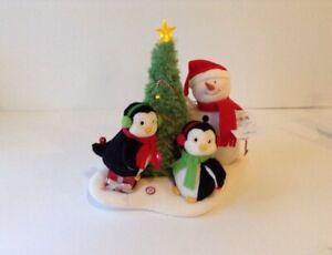 NEW-Hallmark-2006-JINGLE-PALS-Xmas-VERY-MERRY-TRIO-Snowman-Penguins-VIDEO-BELOW