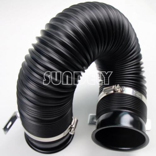 Filtre à induction noir pour kit d/'admission de tuyau de gaine flexible