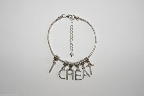 /'I CHEAT/' Hotwife Euro Anklet Ankle Chain Jewellery Slut Cheating Wife Fetish LL
