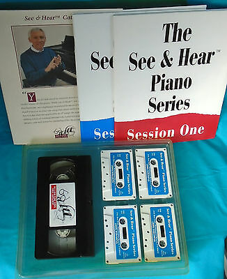 """Introductory Piano Lesson Series Books & Audio Cassettes 1991 Quell Summer Thirst """"see & Hear"""""""