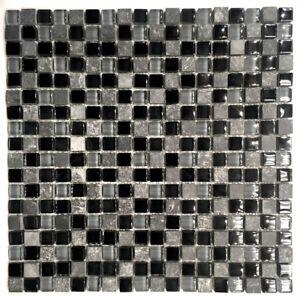 La-Jacond-5-8-034-x-5-8-034-Slate-and-Glass-Blend-Mosaic-Wall-Tile-Backsplash