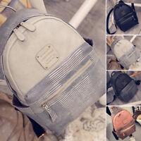 Women's Shoulder School Bag Backpack Travel PU Leather Satchel Rucksack Handbag.