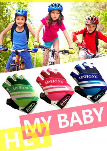 Kids Bicycle Gloves 1 Pair Boys Girls Bike Scooter Fingerless Suitable Wholesale