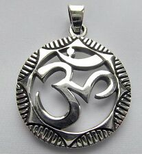 Sterling Silver (925)  Om   Pendant    ( 7.5 Grams )  !!          Brand  New !!