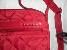 New Auth.Hedgren Inner City Quilted Red  Small  Crossbody Bag