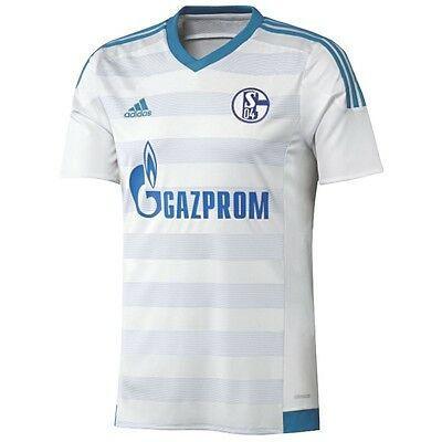 adidas Schalke 04 Away Auswärtstrikot 2015/2016 weiß/blau [S12372 S12375]