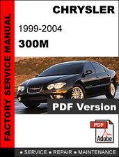 CHRYSLER 300M 1999 2000 2001 2002 2003 2004  SERVICE REPAIR WORKSHOP MANUAL