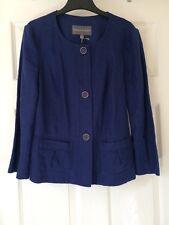 BNWT Stunning LAURA ASHLEY Cobalt Blue Pure Linen Jacket Blazer Coat 6 8 £65