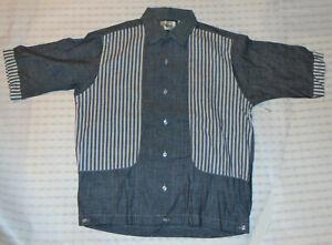 Vintage-1960s-unbenutzt-Herrenhemd-Jac-von-Norris-Loop-Kragen-Kurzarm-NOS-S