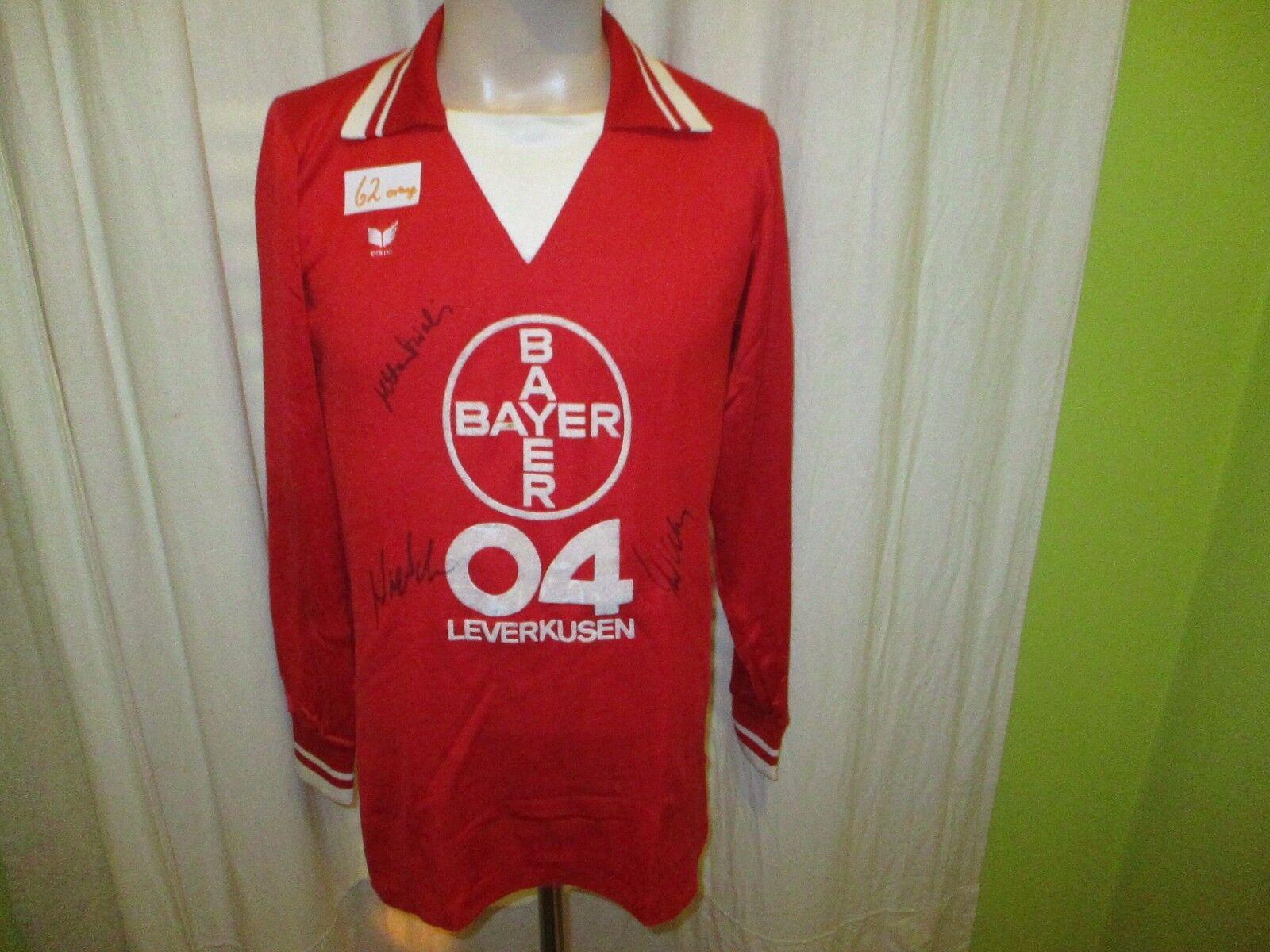 Bayer 04 Leverkusen erima Langarm Trikot 1978 79  BAYER 04  + Signiert Gr.L TOP