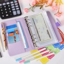 A6 Pu Leather Notebook Binder Budget Planner Organizer 6 Ring Binder Covers Us