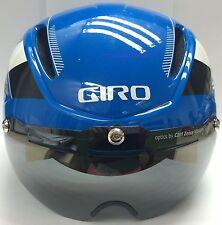 GIRO 2014 AIR ATTACK SHIELD HELMET BLUE WHITE Small BRAND NEW 7035770 W
