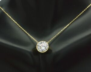 14k-Yellow-solid-Gold-Created-Diamond-Solitaire-Round-Cable-Chain-Necklace-4-ct