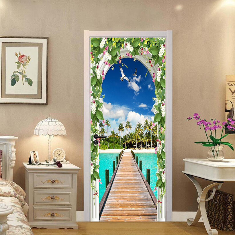 3D Möwen 735 Tür Wandmalerei Wandaufkleber Aufkleber AJ WALLPAPER DE Kyra