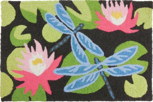 """Jellybean Flowering Waterlilies 20/"""" x 30/"""" Indoor//Outdoor Rug"""