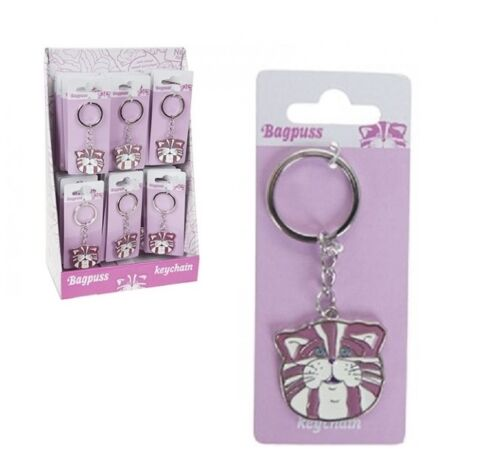 Metal Bagpuss Key ring with Classic colouring GIFT Keychain BAGPUSS Keyring