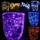 20 40 100er Drahtlichterkette Micro LED Lichterkette Weihnachten Beleuchtung Neu