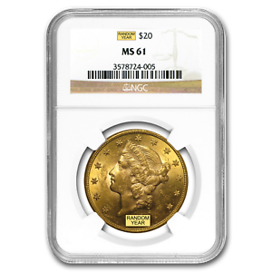 SKU #197498 Random $20 Liberty Gold Double Eagle MS-61 NGC