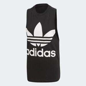 Women-039-s-adidas-Trefoil-Tank-Top-Black-White-z-CE5578
