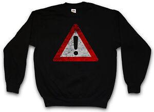 Simbolo di Segnale Logo Avvertenza Wanrschild Biohazard Attenzione maglione avvertimento del Pericolo fEfwaxUqS