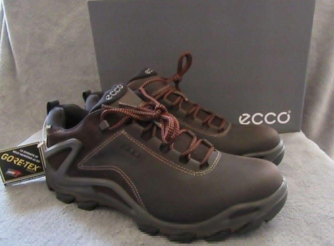Ecco Terra Evo Bajo Gore-Tex café Bota De Cuero Zapatos EE. UU. 10 - 10.5 M Nuevas Con Caja