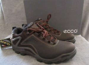 Details about ECCO Terra Evo Low Gore Tex Coffee Leather Boot Shoes US 10 10.5 M EUR 44 NWB