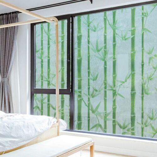 Bamboo Static Window Films Clings Sticker Frosted Opaque Glass Waterproof Modern