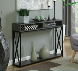 Details About Modern Slim Narrow Entryway Console Table Storage Shelf Contemporary