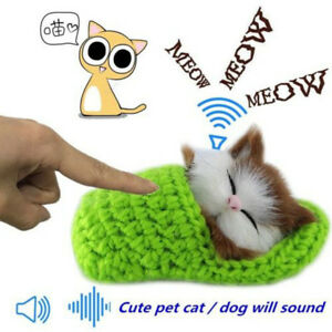 New Lifelike Kid Toys Cute Plush Cat Soft Doll Lifelike Simulation Sound Toys