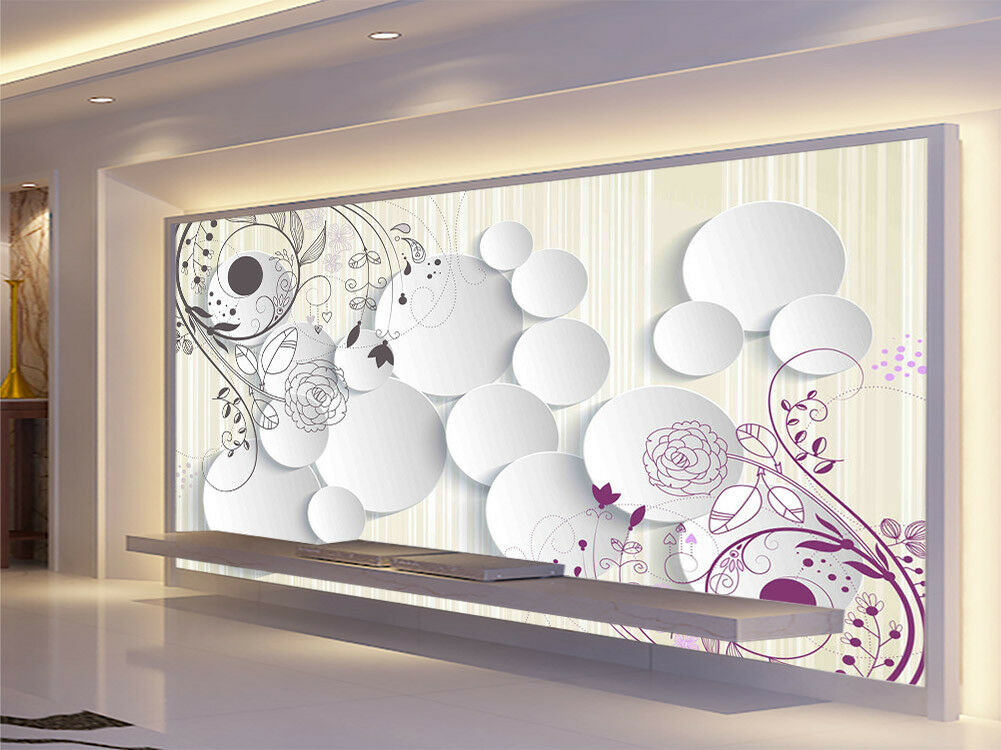 Weiß Homely Step 3D Full Wall Mural Photo Wallpaper Printing Home Kids Decor