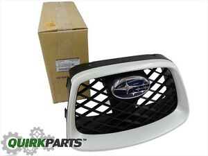 OEM-2006-2007-Subaru-Impreza-WRX-STi-Center-Grille-Satin-White-NEW-91121FE231WU