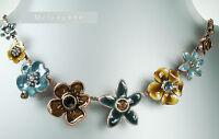 Vintage Pilgrim Necklace Enchanted Flower Copper Grey Brown Rare Colour