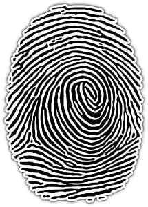 """Fingerprint Human Fingerprints Car Bumper Window Locker Sticker Decal 3.5""""X5"""""""